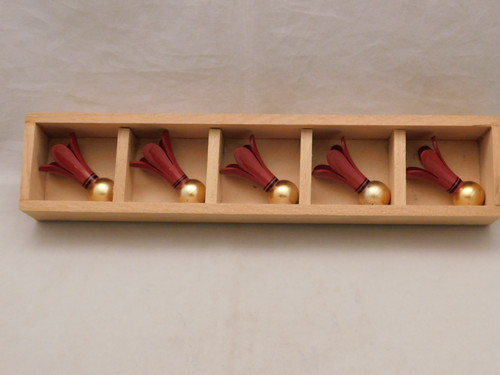 漆羽根型箸置(5客) URUSHI laquer chopstick 5holders