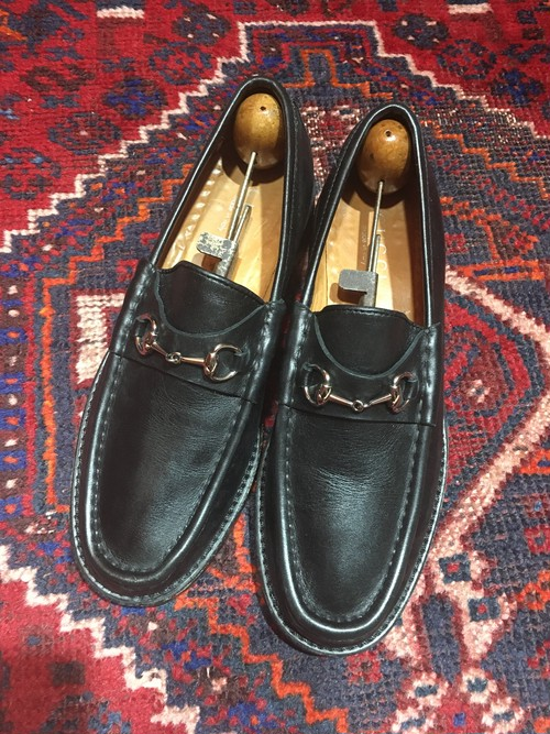 .GUCCI LEATHER HORSE BIT LOAFER MADE IN ITALY/グッチレザーホースビットローファー 2000000032320