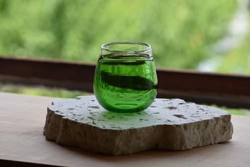 【ふちどりマルグラス(小)緑】