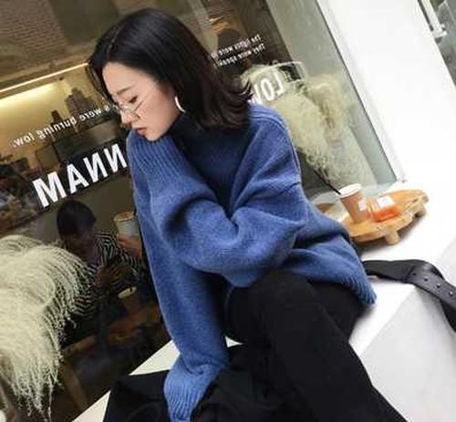 ニット セーター トップス レディース タートルネック 長袖 秋 冬 きれいめ 大きいサイズ オーバーサイズ ゆったり