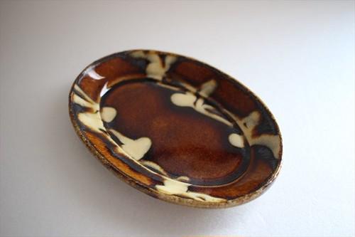 中川紀夫(紀窯)|楕円皿小 2本ライン