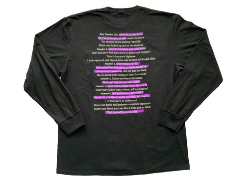 NOTHIN'SPECIAL / HIGHLIGHTER POCKET LS T-Shirt Black