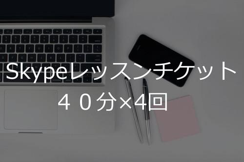 レッスンチケット4回分(40分)