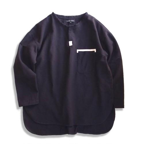 WCH Chambray Waffle Henry Neck Shirt -Black