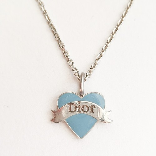 """""""Dior"""" blue heart necklace[n-199]"""