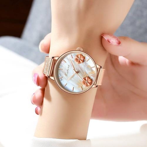 kimio AF-6381(White) 腕時計 レディース