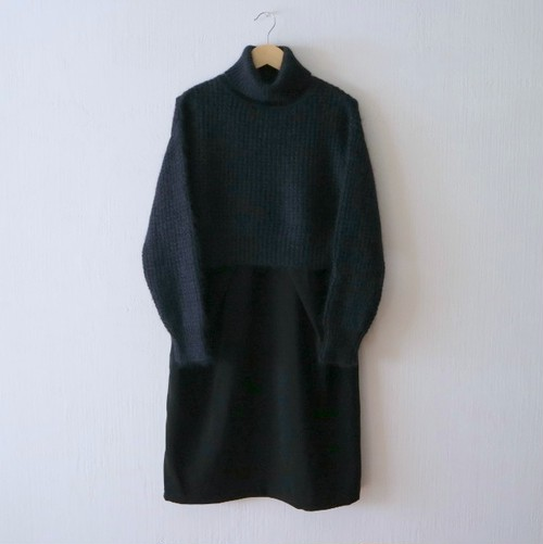 SILK/MOHAIIR KNIT SET ワンピース