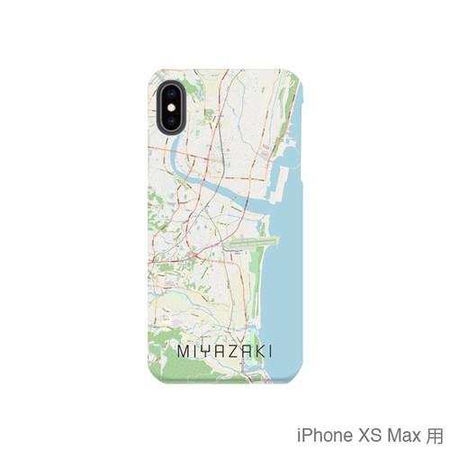 【宮崎】地図柄iPhoneケース(バックカバータイプ・ナチュラル)
