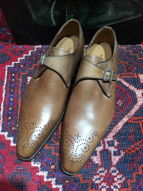 .MAGNANNI LEATHER MONK STRAP SHOES MADE IN SPAIN/マグナーニモンクストラップシューズ 2000000037028