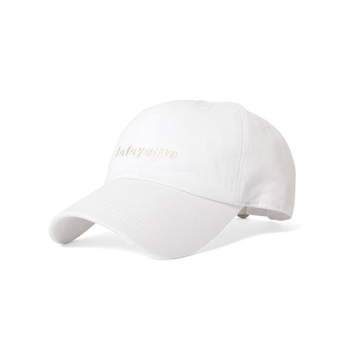 LFYT SAME COLOR LOGO DAD HAT / WHITE