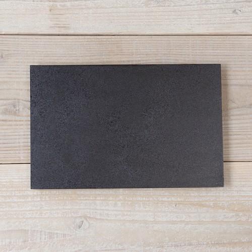 香川漆器 讃岐石地塗角皿(大) 中田漆木