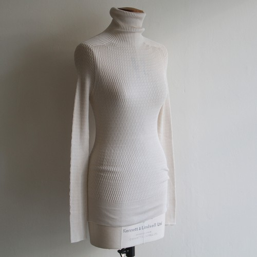 UNION LAUNCH【 womens 】silk honeycomb turtle neck