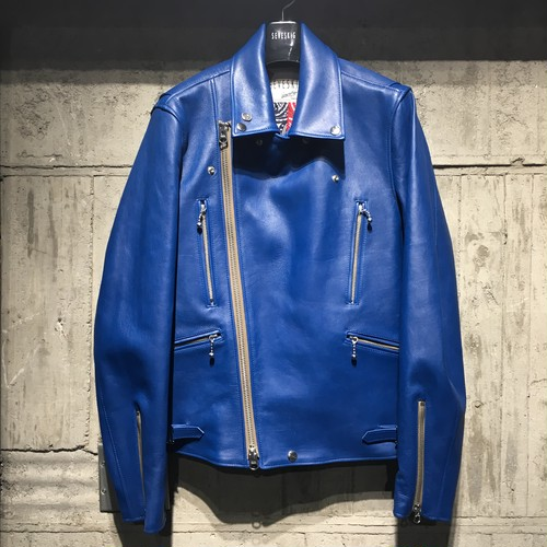 【SEVESKIG】 CALF COLOR RIDERS JACKET