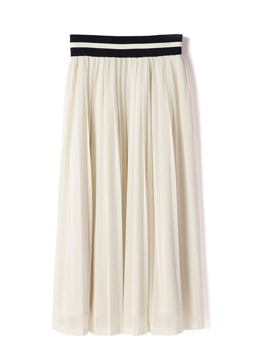 (フレッドペリー) FRED PERRY F8363 09 WOMEN PLEATED LONG SKIRT ロングスカート OFF WHITE