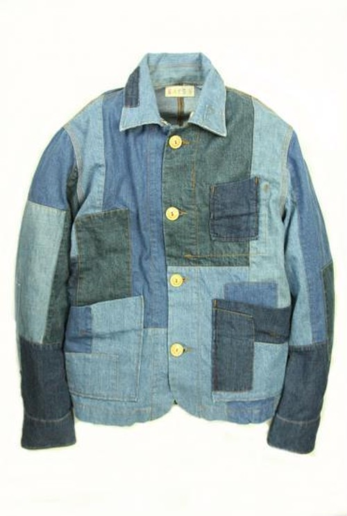 Used Patchwork Jacket_DENIM