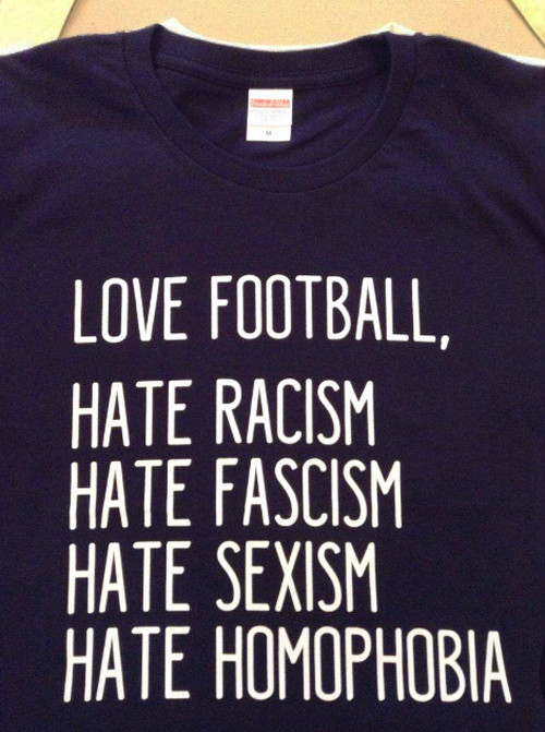 LOVE FOOTBALL, HATE... T-shirts (NAVY)
