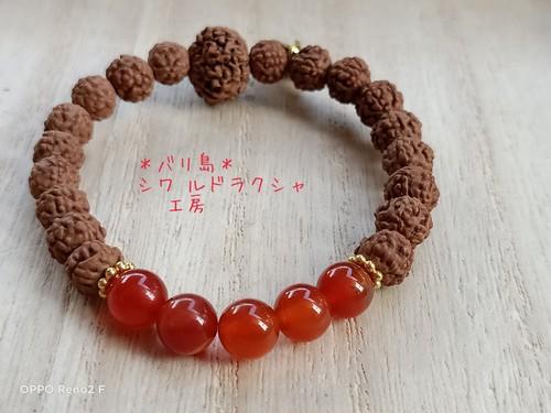 【カーネリアン】8面ガネーシャ★ブレスレット(キスワント)