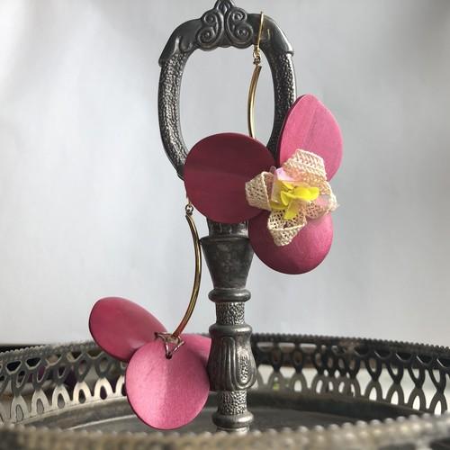 Tropical flower 一輪挿し deep pink. ※一点限定