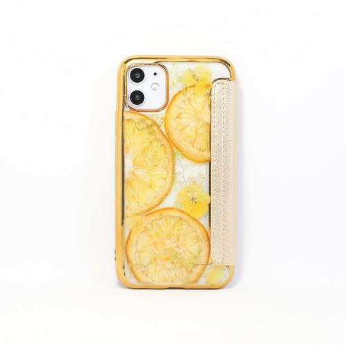 【手帳型:11対応】押し花 iPhone case