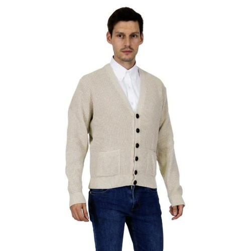 Relco London | Waffle Cardigan - Beige