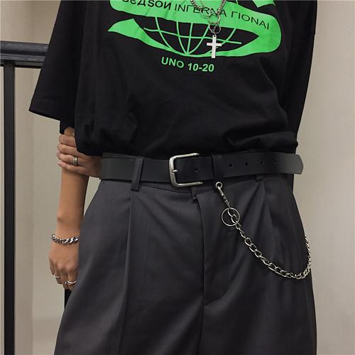 【小物】韓国風ファッションレトロ鉄鎖付きベルト