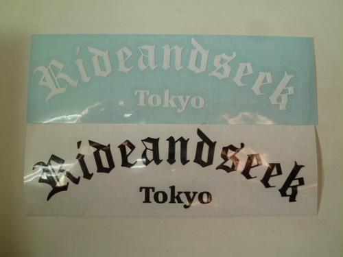 RIDE&SEEKオリジナルアーチロゴステッカー