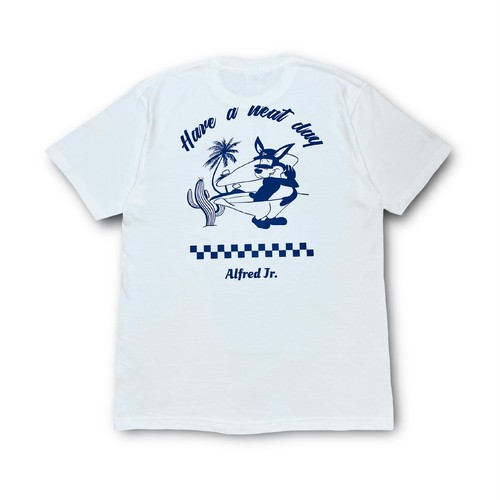 Alfred  Jr.  T-Shirts ( Navy  White )