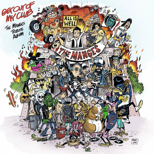 """v/a / get out of my club - a tribute to the manges 12"""" PUNK ROCK RADUNO EDITION"""
