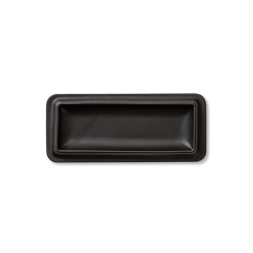 colm Leather Tray M Black