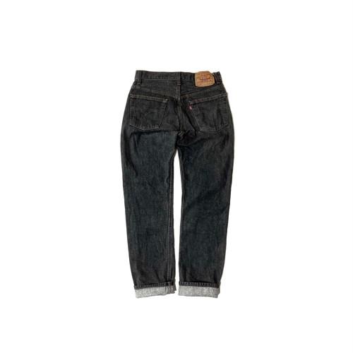 "90's ""LEVI'S / 501"" (29×30) YARN DYED BLACK DENIM PANTS"
