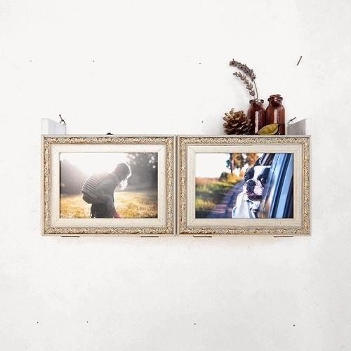 フォトフレームシェルフ*壁掛け写真棚 / L判