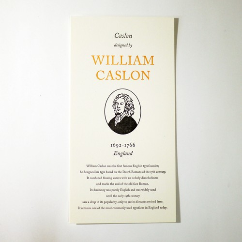 GREAT TYPE DESIGNERS SERIES WILLIAM CASLON