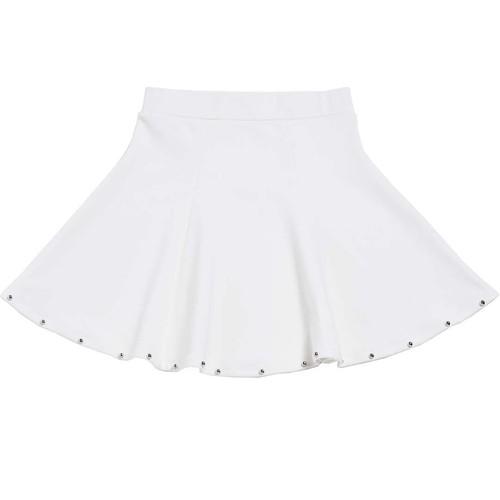 スタッズフレアスカート/ホワイト