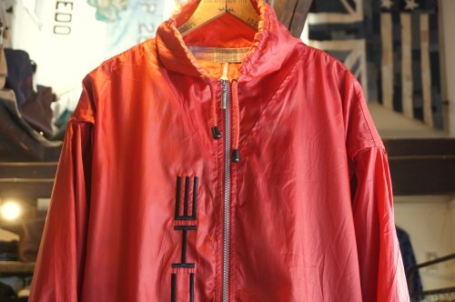 00's PORSCHE wine-red zip-up nylon Jacket