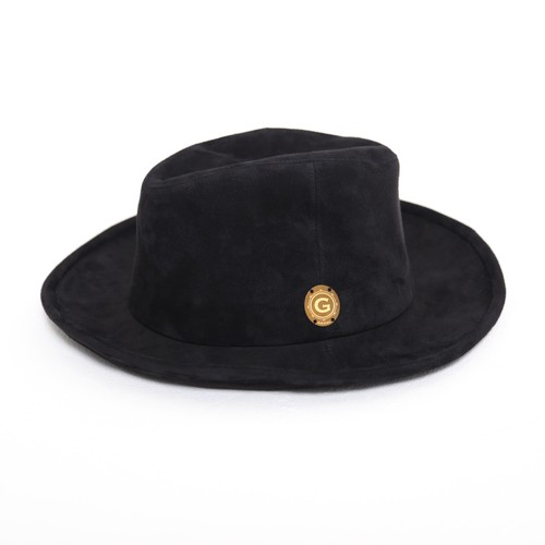 LEATHER HAT (BLACK) / GAVIAL