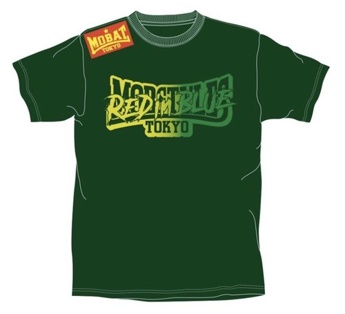 【GREEN】MOBSTYLES × RED in BLUE LIMITED T-SHIRTS