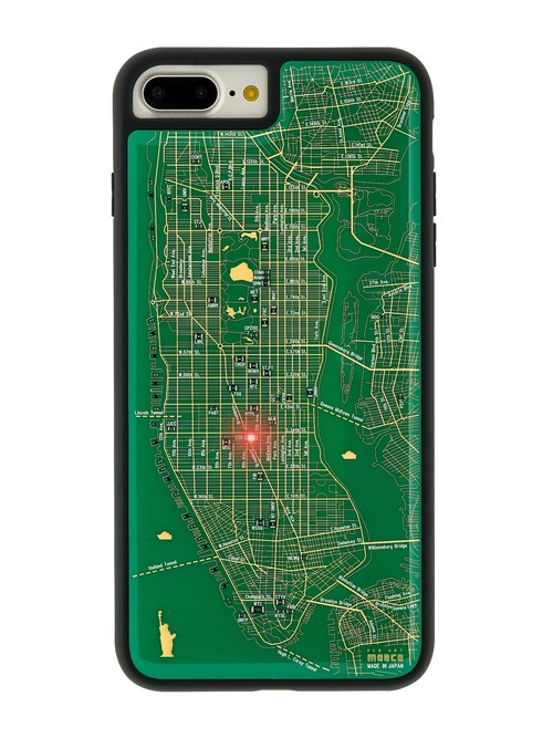 FLASH NY回路地図 iPhone7/8 Plusケース 緑【東京回路線図A5クリアファイルをプレゼント】