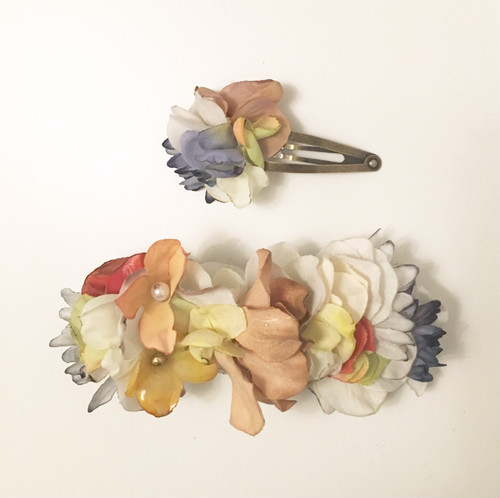 mellow / flower barrette and hair pin set6