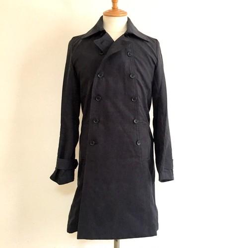 P-Suede Double Breast Coat Black