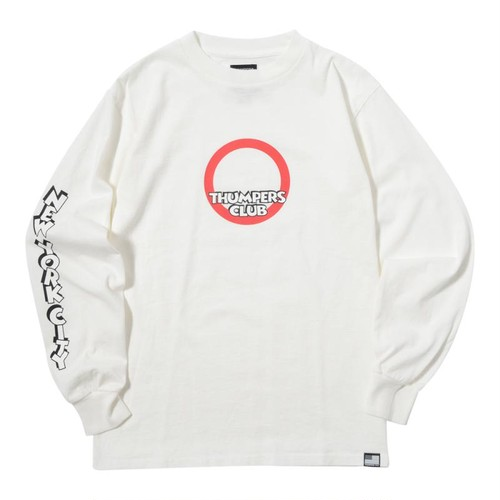 THUMPERS CLUB L/S TEE (WHITE) [TH-17AW-005]