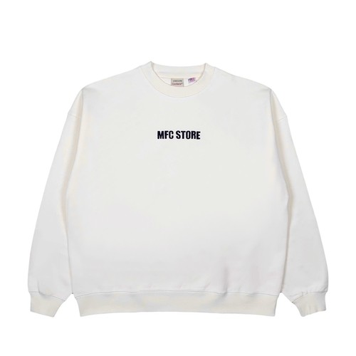 MFC STORE x Goodwear EMBROIDERY SIDE LOGO CREWNECK / OFF WHITE