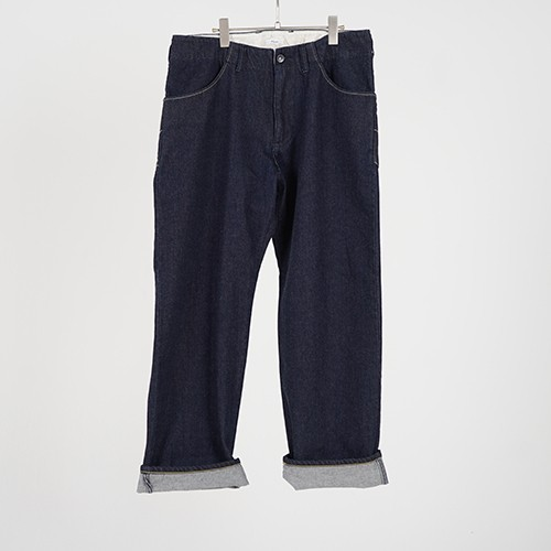WIDE DENIM PANTS ONE WASH (INDIGO) / GAVIAL