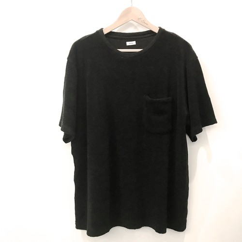 blurhms  Linen Pile Pocket Tee Black