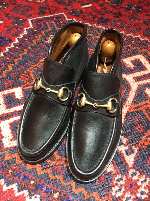 .GUCCI LEATHER HORSE BIT SHORT BOOTS MADE IN ITALY/グッチレザーホースビットショートブーツ 2000000032122