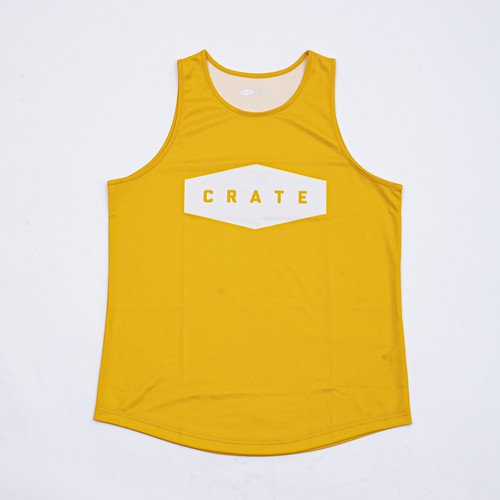 CRATE LOGO Mesh Tanktop YELLOW