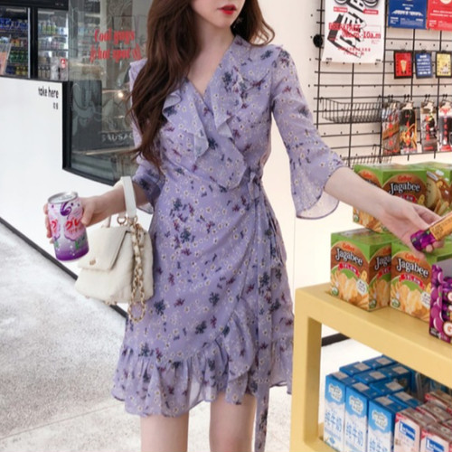 purple flower dress