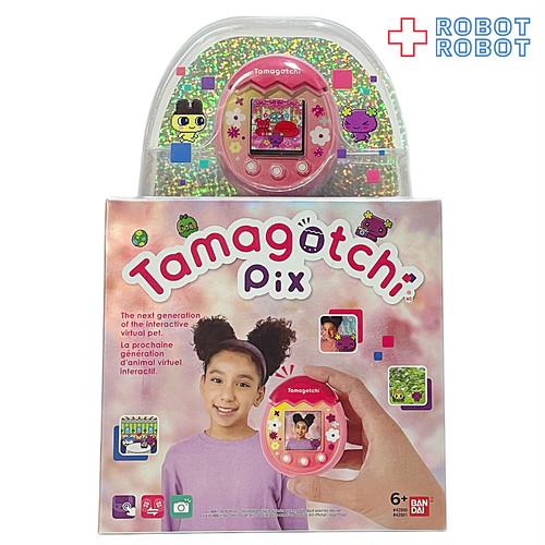 ●バンダイ US版 たまごっちピックス Tamagotchi Pix フローラルカラー ピンク