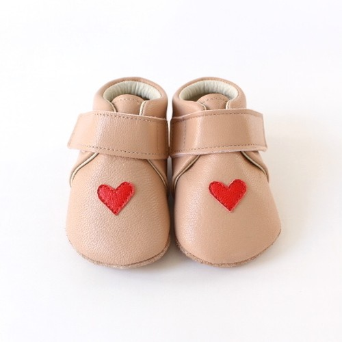 baby shoes(heart)pink