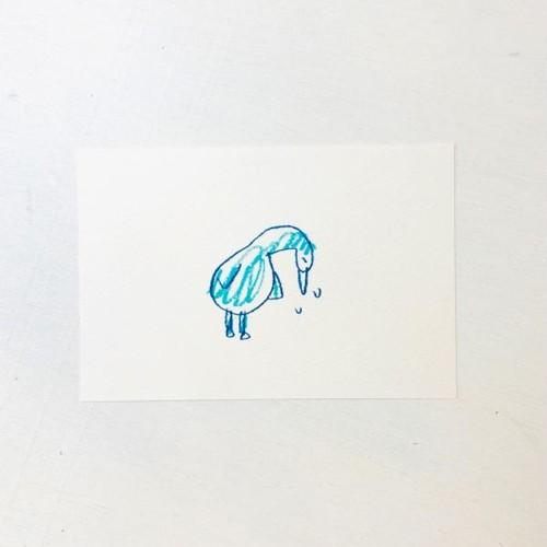 ポストカード ブルーなバード(元気だして)
