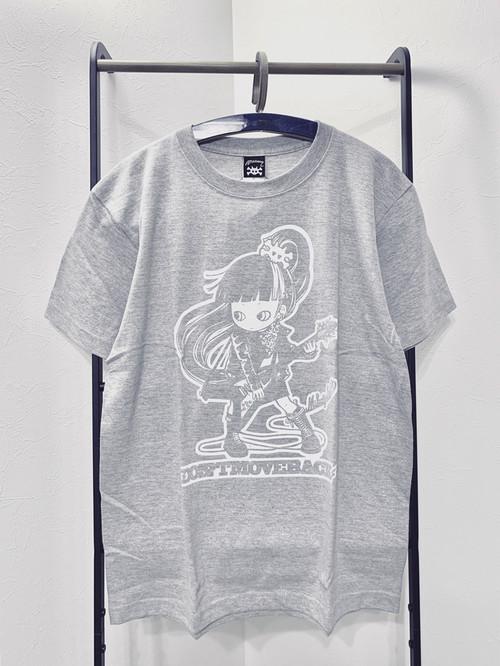 """MIKAZUKI / ミカヅキ """"DON'T MOVE BACK"""" Tシャツ グレー Mサイズ[ T-003]"""